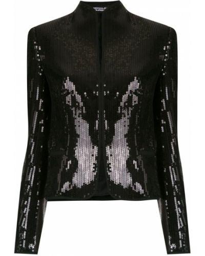 Прямая черная длинная куртка Reinaldo Lourenço