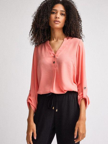 Блузка с длинным рукавом розовая весенний Dorothy Perkins