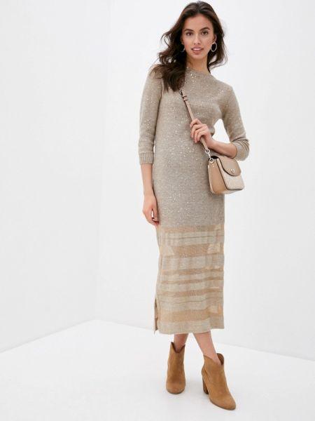 Бежевое повседневное платье Falconeri