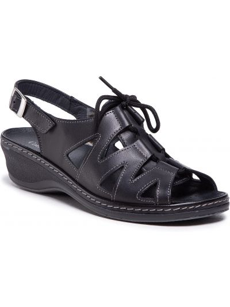 Czarne sandały casual Comfortabel
