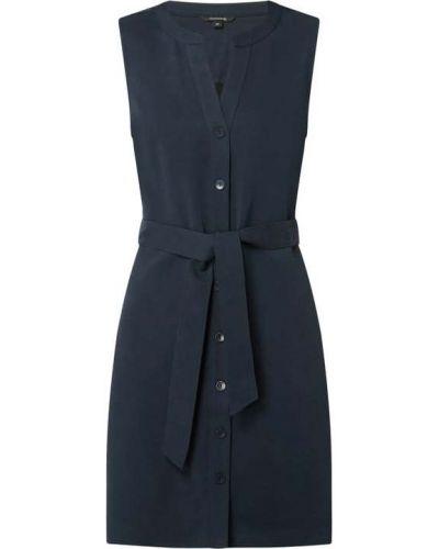Niebieska sukienka rozkloszowana z wiskozy Comma