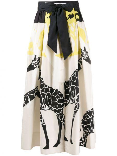 Хлопковая пышная юбка макси с поясом Sara Roka