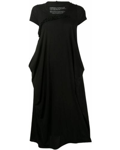 Черное приталенное футбольное платье миди Rundholz Black Label