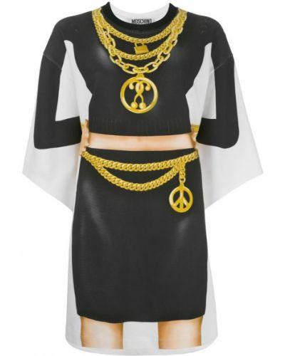 Платье мини футболка свободного кроя Moschino