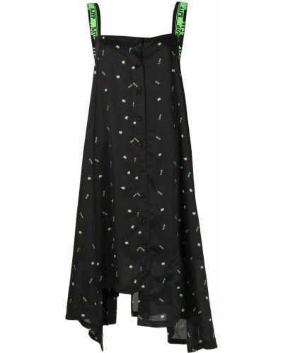 Черное платье из полиэстера Sjyp