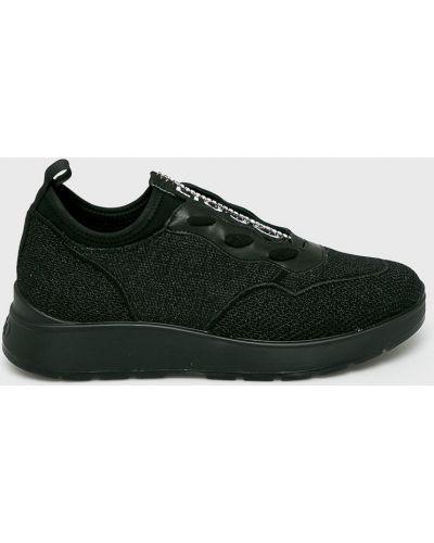 Черные текстильные кожаные сапоги Liu Jo