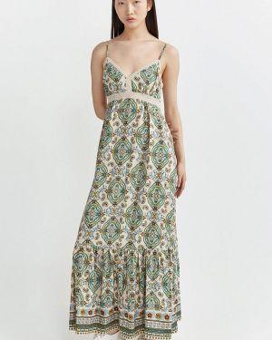 Платье бежевое платье-сарафан Springfield