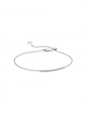 Зауженный браслет - серебряный Monica Vinader