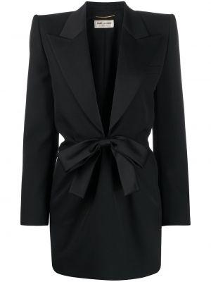 Платье на пуговицах с V-образным вырезом Saint Laurent