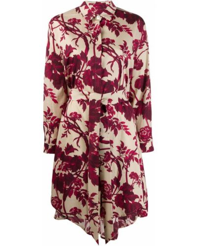 Платье миди на пуговицах с цветочным принтом Antonio Marras