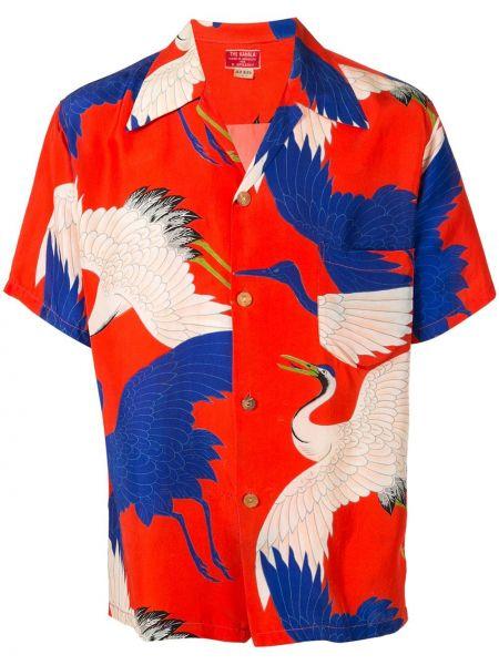 Koszula krótkie z krótkim rękawem klasyczna jedwab Fake Alpha Vintage