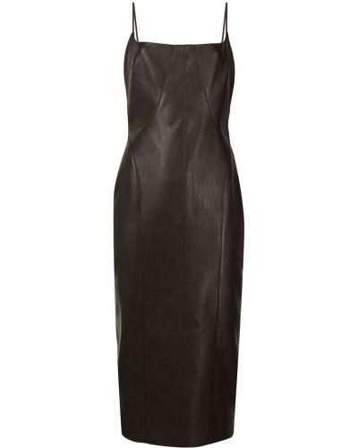Приталенное платье миди - коричневое Manning Cartell