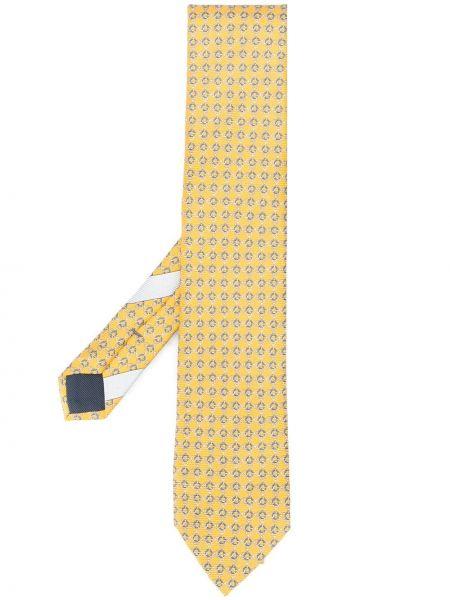 Желтый шелковый галстук Ermenegildo Zegna