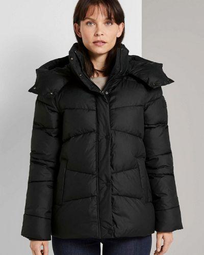 Утепленная куртка - черная Tom Tailor