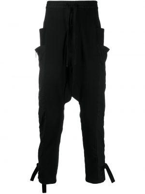 Спортивные черные спортивные брюки с карманами с заниженным шаговым швом Unravel Project