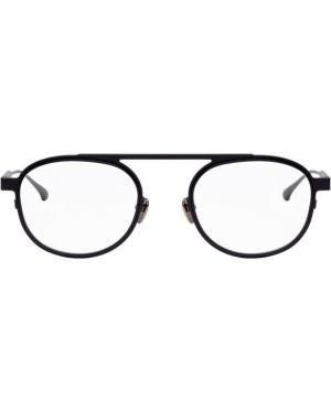 Черные очки круглые металлические Thierry Lasry