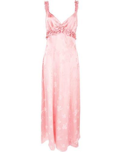 Платье розовое с открытой спиной Alexa Chung