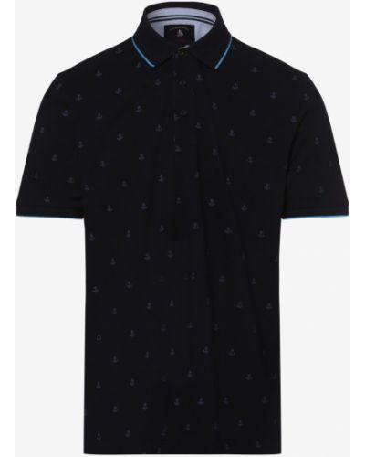 Niebieski t-shirt w paski z printem Andrew James Sailing