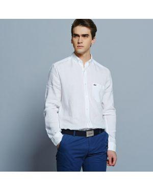 Рубашка льняная белый Lacoste