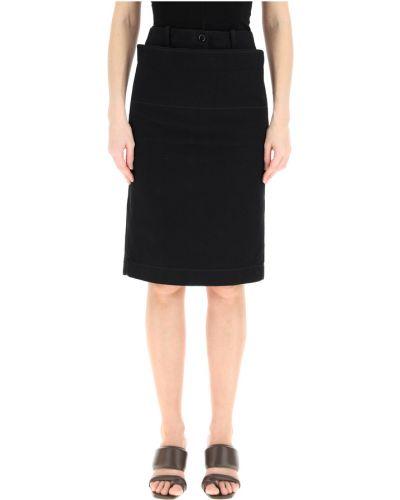 Czarna spódnica jeansowa Lemaire