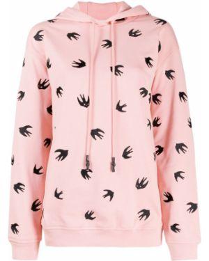 С рукавами розовый длинный свитер с капюшоном Mcq Alexander Mcqueen