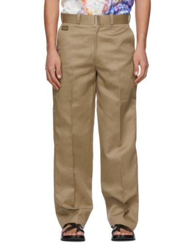 Прямые бежевые брюки с карманами Tanaka