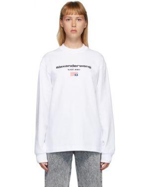 Рубашка с длинным рукавом белая в полоску Alexander Wang