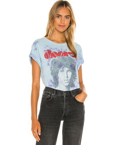 Włókienniczy światło niebieski t-shirt zabytkowe Daydreamer
