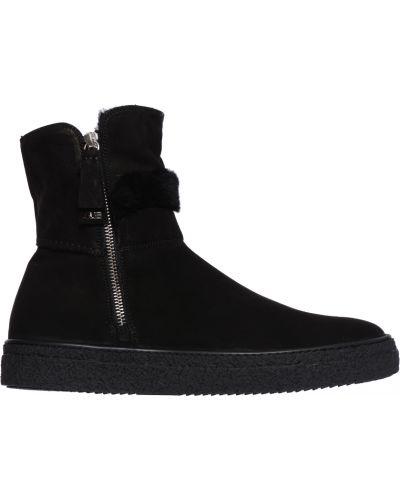Ботинки осенние замшевые черные 4us Cesare Paciotti