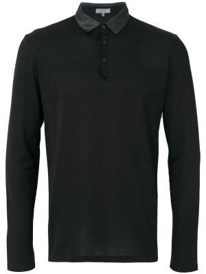 Koszula z długim rękawem klasyczny czarna Lanvin