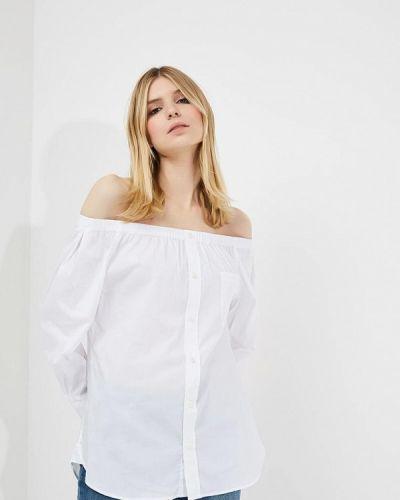 Белая блузка с открытыми плечами Emporio Armani