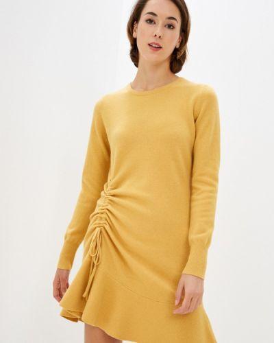 Желтое вязаное платье Rodier