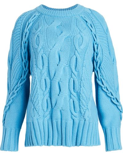 Синий шерстяной длинный свитер с длинными рукавами Club Monaco