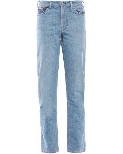 Хлопковые синие прямые джинсы Acne Studios