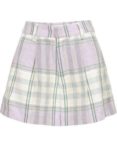 Бежевые льняные шорты с карманами Isabel Marant étoile