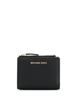 Кожаный картхолдер - черный Michael Michael Kors