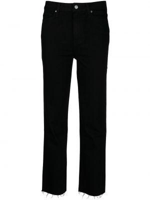 Хлопковые черные джинсы на молнии Paige