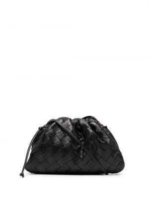 Золотистая черная кожаная сумка через плечо Bottega Veneta