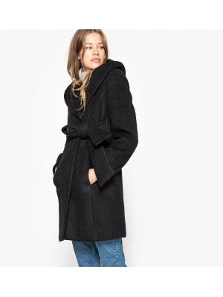 Пальто с капюшоном пальто-халат шерстяное Mademoiselle R