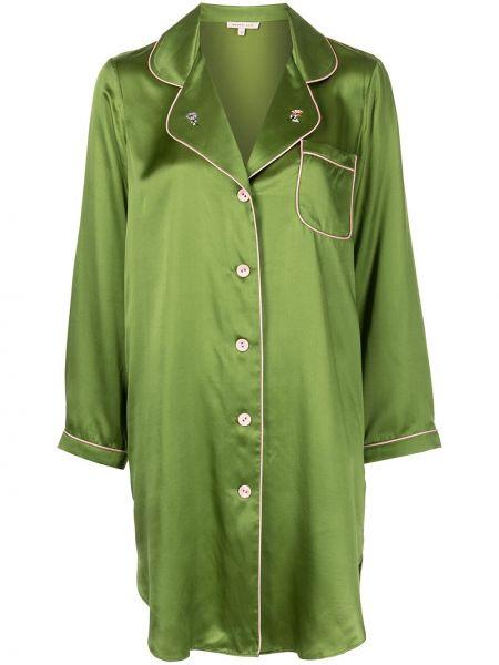 Koszula nocna z wiskozy - zielona Morgan Lane