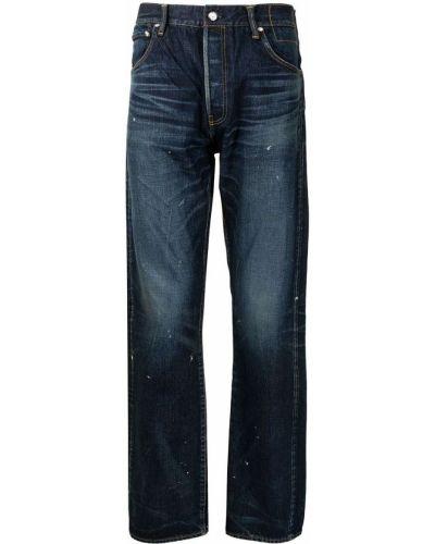 Niebieskie mom jeans z paskiem Visvim