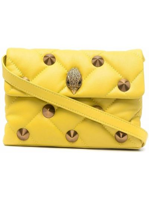 Żółta złota torebka Kurt Geiger London