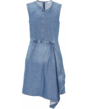 Платье мини джинсовое с оборками Stella Mccartney