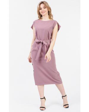 Платье с поясом розовое через плечо Lacywear
