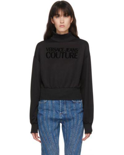 С рукавами черные джинсы с манжетами Versace Jeans Couture