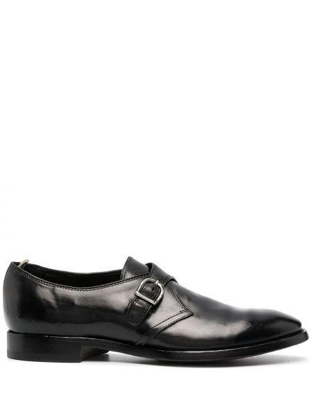 Черные кожаные туфли на каблуке Officine Creative
