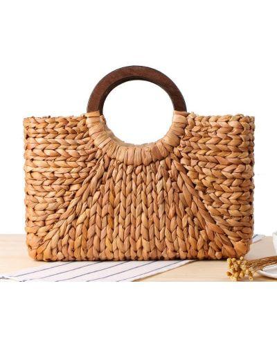 Соломенная сумка - бежевая Jingpin
