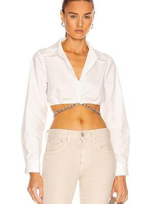 Biała biała koszula bawełniana Atoir