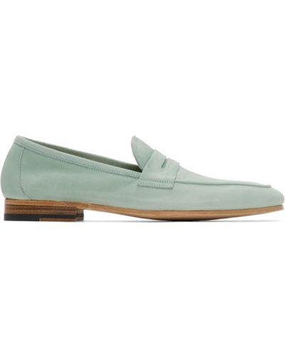 Niebieski z paskiem loafers z prawdziwej skóry kaskada Paul Smith