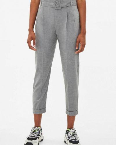 Классические брюки серые Bershka